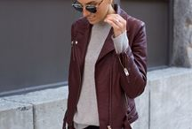 Burgundy outfits