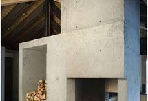dom w górach kominek