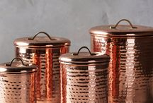 Interior Trend : Copper and Metallic Finishes / AW 2015 Interior Trend.  Copper in all it's finishes; smooth, polished, brushed and hammered feature on this seasons must have home accessories.  Copper contrasts beautifully against richly coloured, dark, interior wall colours bringing a touch of light and shine to richer, more dramatic interiors but can also help to create a grown-up, feminine feel in lighter more pastel coloured rooms.