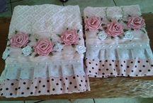 toalhas de rosto bordada