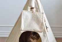 Tipis pour chats / Nos petites boules de poil aiment s'enfermer ans des boîtes et des tipis. Ce board leur rend hommage !