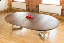 H U G E table ideas. / How can you make modern, stylish solid wood tables better ?  Why by making them absolutely H.U.G.E off course ...