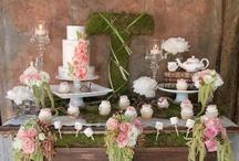 Secret garden dessert table