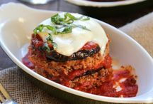 cheesy meatloaf stacks with grilled eggplant