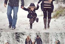 Těhotenské foto zima