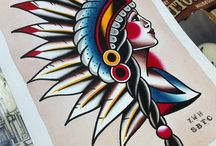 Traditional tattoos drawings