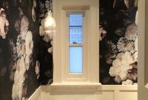 Dark Floral Bathroom