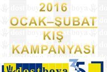 Dost Boya Ocak-Şubat 2016 Kampanyası / En kaliteli ürünler, en iyi fiyatlar = Dost Boya