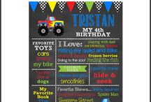 Monster Truck Birthday / Monster Truck Birthday Monster Truck Party Birthday Chalkboard Party Decorations Monster Truck Party Theme