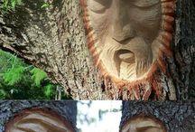Umění - dřevo / práce se dřevem