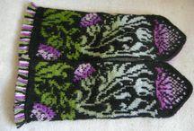 knitting mittens