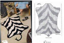 ВЯЗАНЫЕ КОВРИКИ / вязаные коврики для детской и др комнат