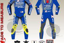 Custom made motogp suit similar to Andrea Lannoe suzuki