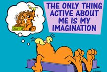 Garf. / He is Garfield. Look at his pics. They spoke well.