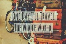 inspirational travel quotes / love quotes and images that inspire to travel