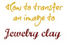 transfering images onto clay jewels