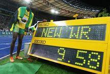 Track and Field world rekords men and women. / Världsrekords innehavare i de olympiska grenarna i friidrott.