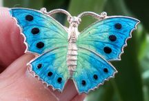 Butterfly , Moth , Dragonfly ,Bee  Pins / by Jane Kurtz
