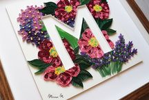 A - QUILLING - LETTRES