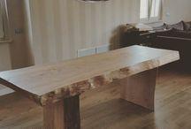 tavolo massiccio cedro rosso del Libano design italiano / Tavolo in legno massello di cedro lavorato a mano in italia dagli artigiani XLAB  www.xlab.design