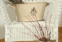 Smietankowe dekoracje / dekoracje do domu i ogrodu