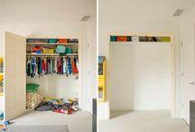 DIY -Closet Loft B4 & after.