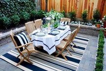 Outdoor Interior Idea's / Rugs are not only meant for indoor areas but also outdoor areas. Check out Rugs and Beyond's rug collection meant for outdoor areas like patio, poolside, rooftop garden etc. View dhurries and modern rugs meant for outdoor area and enhance the beauty of your space.