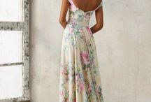 dresses, fabrics, prints