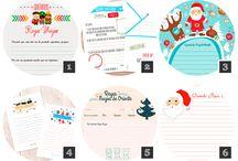 Cartas Papa Noel y Reyes Magos Imprimibles