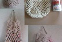 ネット編みバッグ