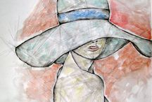 illustration&design / illustration, design, portrait, style, art, watercolor, drawing, woman, nude, homedeco, poster