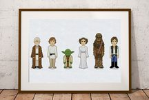 Star Wars cross stitch patterns / You cannot get tired of Star Wars. Great cross stitch star wars patterns inspired by the series. Cute embroidery designs of Leia, Yoda, Han Solo, Anakin Skywalker, Obi-Wan Kenobi, Chewbacca. You don't need to be a starwars fan to enjoy these themes counted cross stitch patterns.