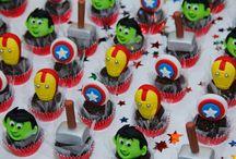 Chocolates para a festa capitão América