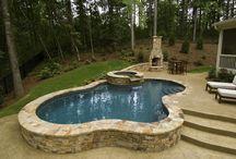 Swembad en tuin