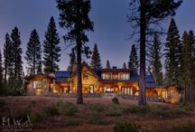 Martis Camp 190 / Mountain family retreat - reclaimed wood, limestone, stone, timber trusses