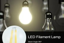 LED Filament Lamp / Use Sapphire board for a better heat dissipation to longer the life.Use bigger wafer 9*12mil or 12*15mil to get a higher light output. 0-100% smoothly dimmable and match both leading and trailing. edge triac dimmers.Power factor could be up to 0.92. 2200K color temperature is available for some special project.Very high light efficiency--up to 110Lm/W