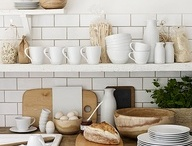 French kitchen shelves