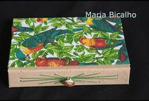 Encadernação manual / este painel contem meus trabalhos de encadernação artística manual