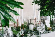 Tropical/leafy wedding design