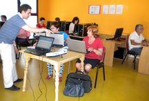 "Taller de ofimática / El 27 de junio de 2014 realizamos un taller de ofimática en la sala de internet ""Cibersalamandra"" de 16:00 a 20:00 h."