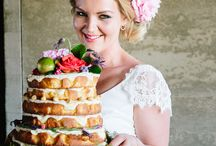Naked Wedding Cakes / Naked wedding cakes in Wanaka, New Zealand. Bright flowers, fruit, splodges and drips in the Peppermint Kitchen style
