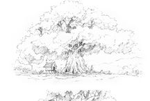 visual library : tree sketch
