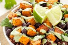 ensalada de batata y quinoa