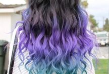 Hair: colorful...
