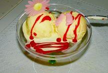 Homemade ice-cream and Sorbet