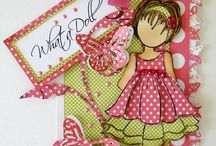 Julie Nutting Doll diecuts