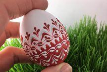 Jajka malowane woskiem