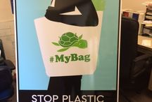 #MyBag / The #MyBag social media campaign features people showing off the reusable bags they use to reduce throwaway disposable plastic grocery bags.
