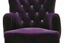 Fialové dekorácie