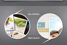Premium Facebook Timeline Cover Templates / Some high quality Facebook Timeline Cover templates for PhotoShop.